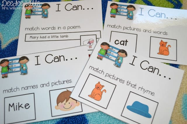 """What Worked Last Year? Literacy Station """"I Can"""" Cards 2"""