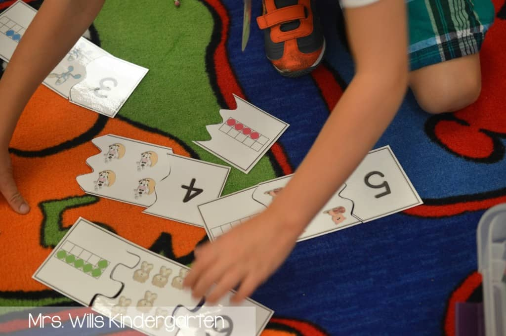 math stations kindergarten