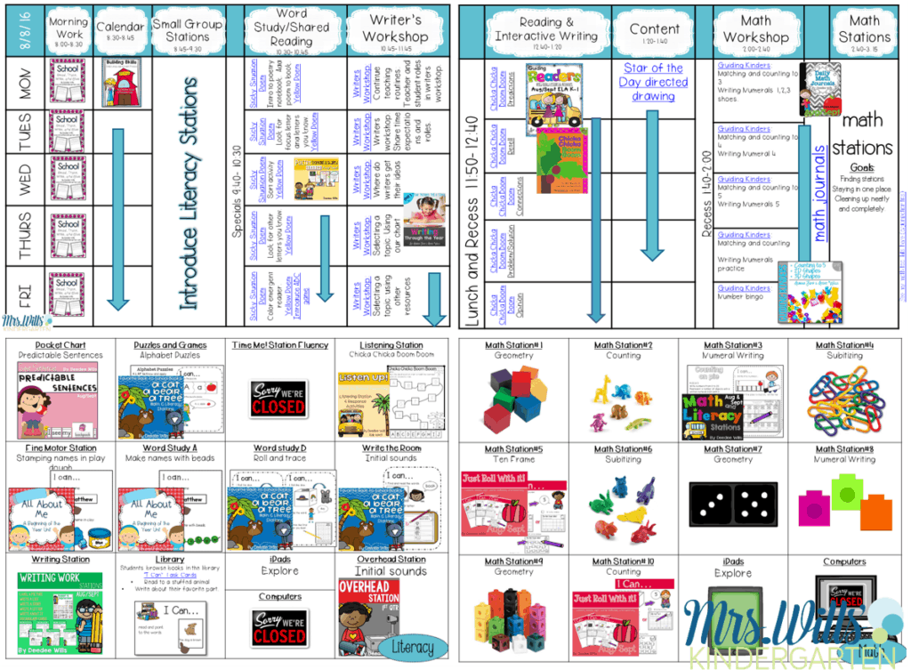 Lesson Plans for the first week of school in kindergarten