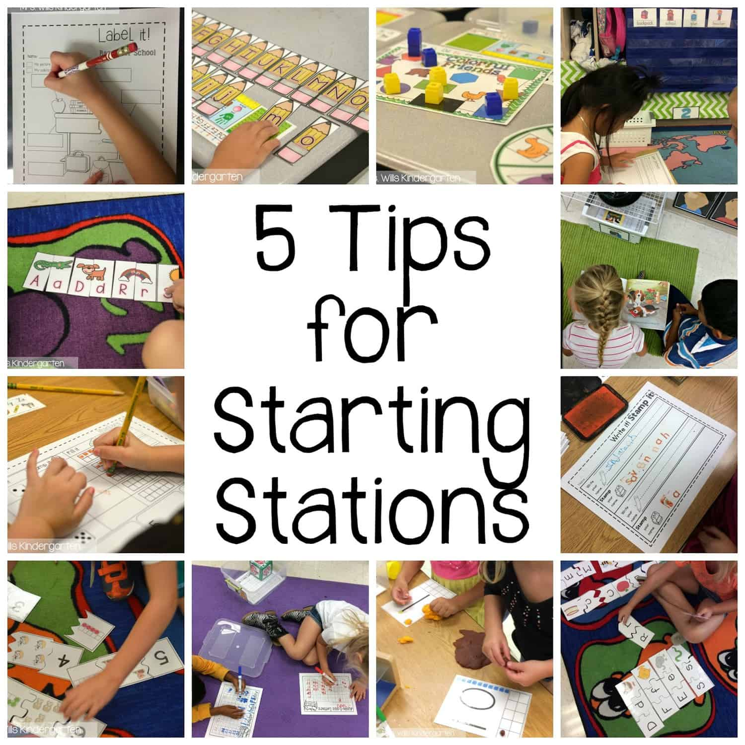 Peek at my Week:  5 tips for starting stations 1