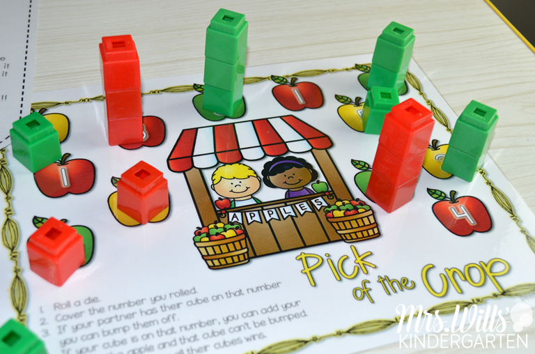 Apple Centers and stations for Kindergarten. Fun apple themed activities for math and literacy