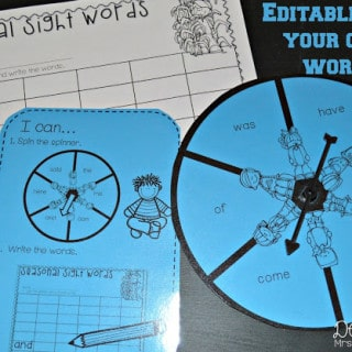 Math and Literacy Stations for Kindergarten:  Black Ink Only!