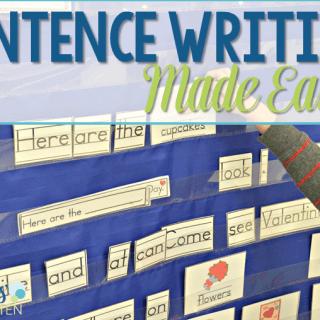 Sentence Writing in Kindergarten Made EASY!