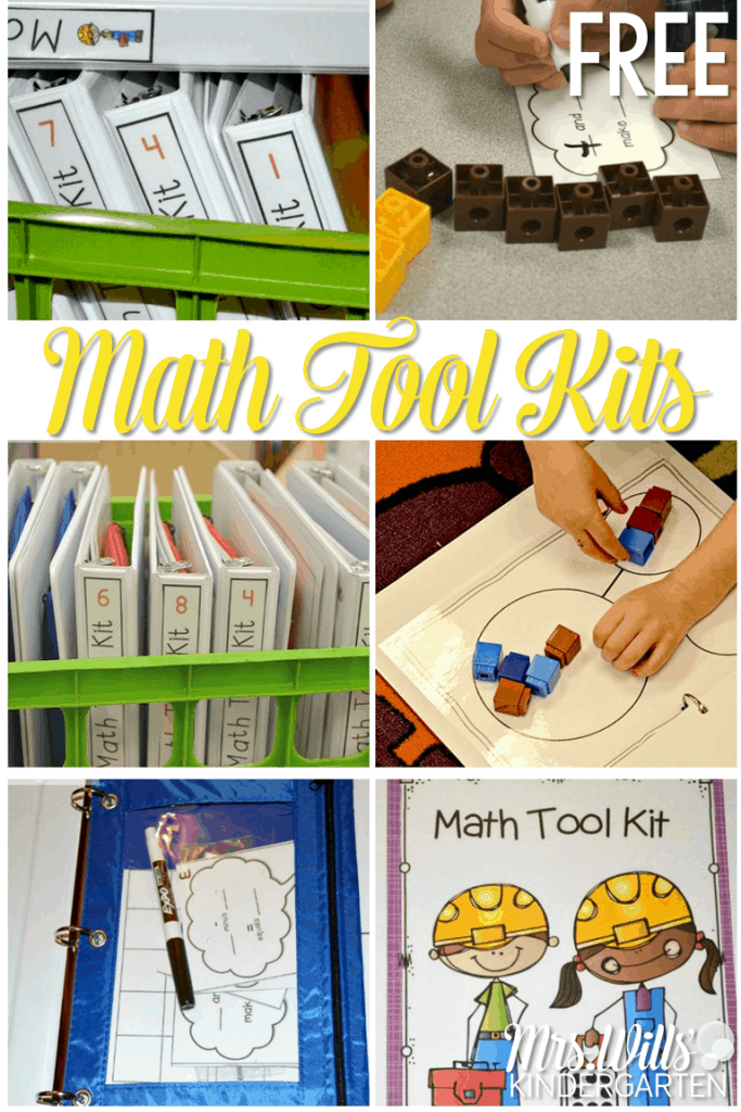 Looking for ideas to organize your math units? Check out these FREE, printable kindergarten math tool kits!