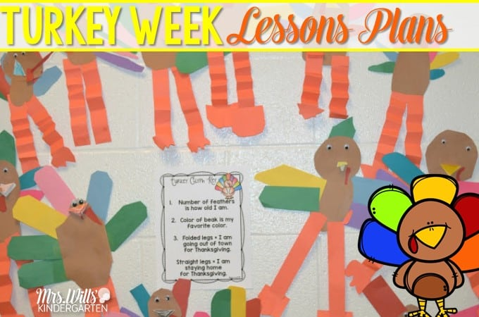 Thanksgiving Week Lesson Plans:  Peek at my week