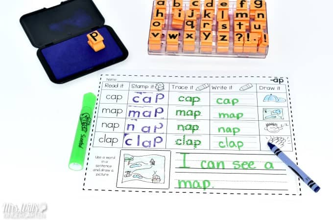 Having a kindergarten stamping station has always been a fun treat for my students! This is a great literacy center and a math station. Check out these ideas on how to make one for your classroom!