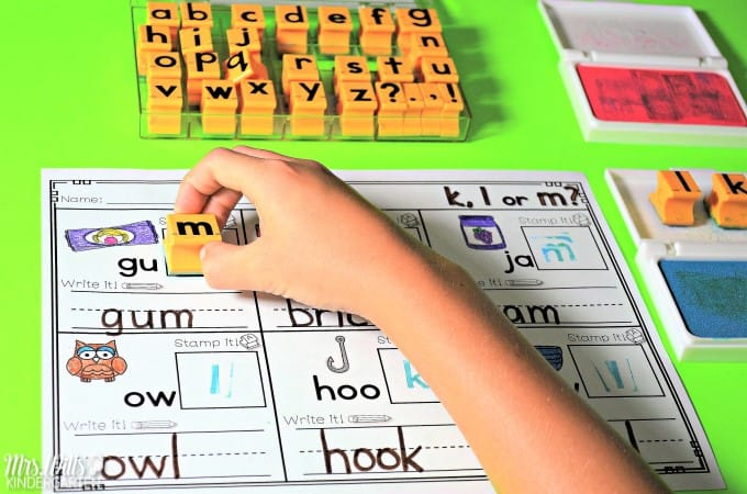 This is part of the phonics set of stamping activities. You can see these activities HERE.