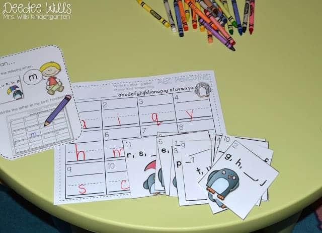 Independent Station Work in Kindergarten 5