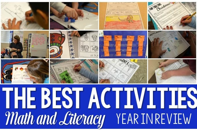 Here are my picks the the best math and literacy activities of the year for kindergartners, including writing workshops, poetry units, and listening stations!