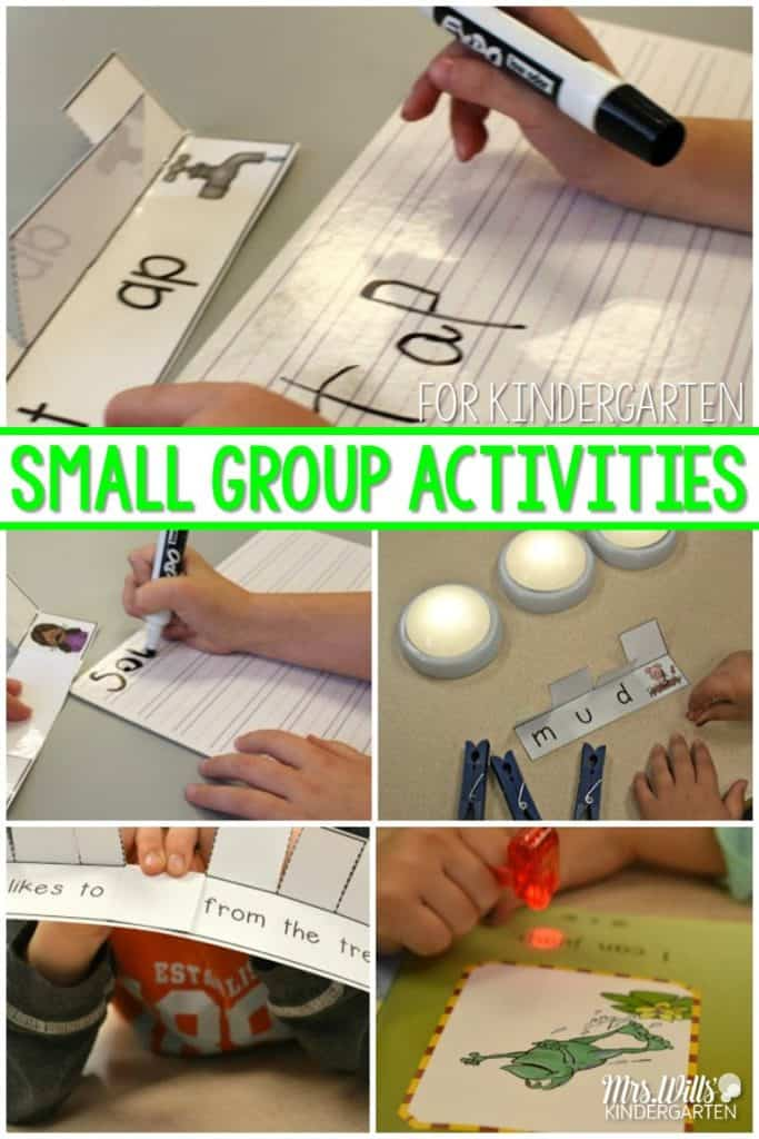 How to do Small Group Activities and Instruction in Kindergarten, what they look like, word work and warm up, and more. Works in first grade too!