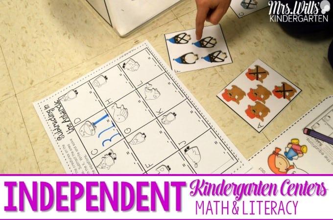 Independent Station Work in Kindergarten