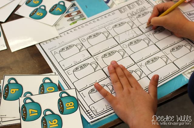 "Check out these printable Christmas kindergarten literacy and math units! They follow more of a ""winter"" theme, so they can also be used in January!"