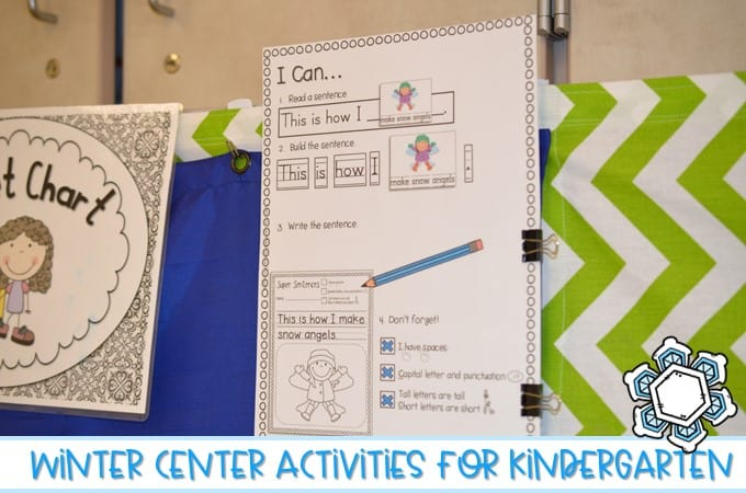 Check out these kindergarten winter center activities, including literacy and math centers! Addition, subtraction, sight words, making ten, and sentence work!