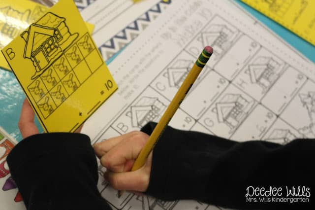 Printable Kindergarten Math and Literacy Worksheets. Check out these kindergarten center ideas for winter! Perfect for the month of January! Skills include: vowels, sentence writing, subtraction, and addition!