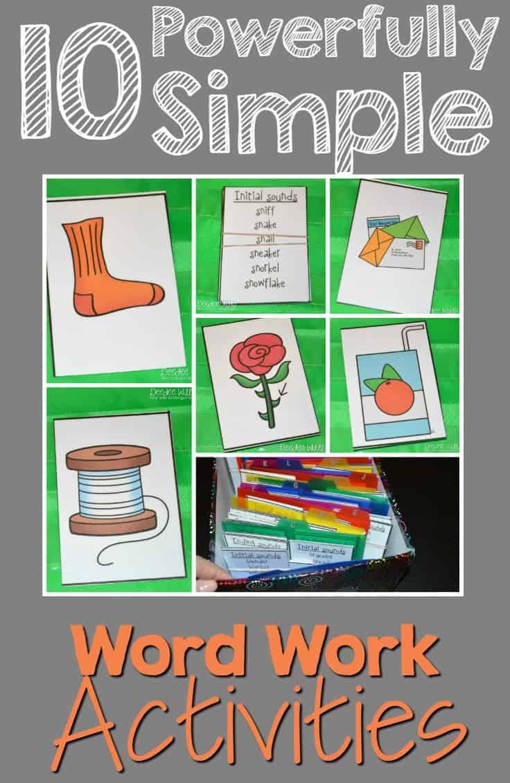 Simple word work activities