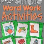 Powerfully Simple Word Work Activities