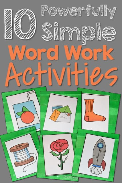 Finding 10 powerfully simple word work activities does not have to be as hard as you think! Sometimes a picture IS worth a thousand words!