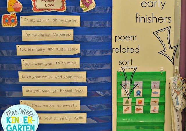 Kindergarten Literacy Stations Resources
