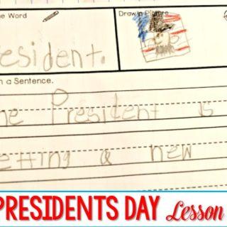 Kindergarten Lessons President's Day Week!