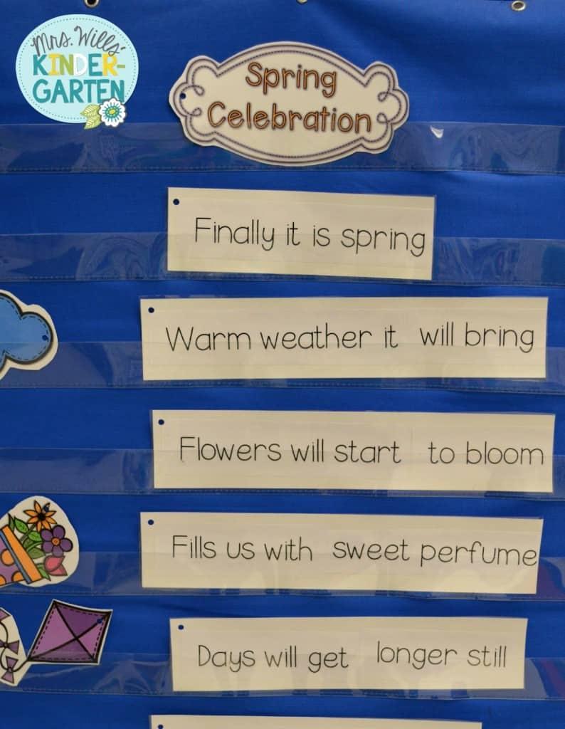 April Classroom Organization