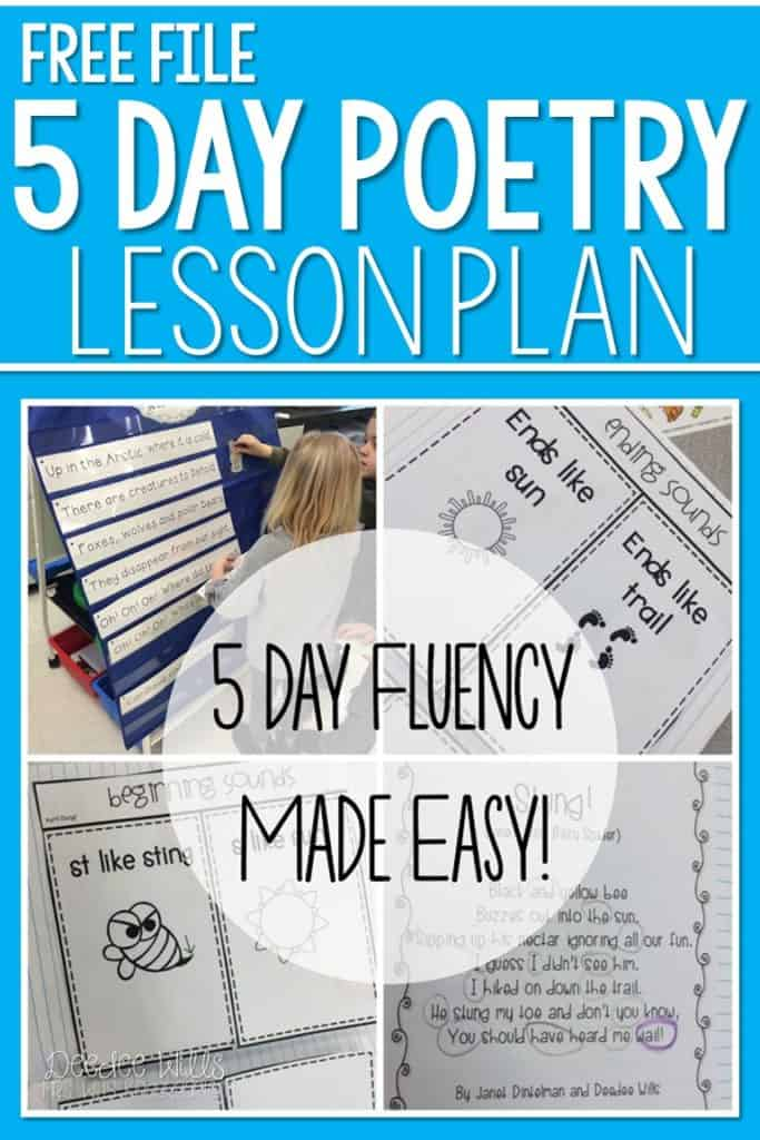 5 day fluency made easy! We simply loved our daily poetry time last year! How do you keep 5 days worth of shared reading fun and meaningful? Let me show you! Free Poem Sample included. Great for kindergarten and first grade!