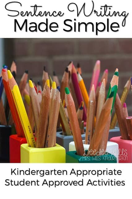 In kindergarten it's important to make sentence writing simple, but also fun! Here's how you can use kindergarten appropriate student approved activities to foster great sentence writing.