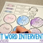 Sight Word Intervention Made EASY! (with a free download)