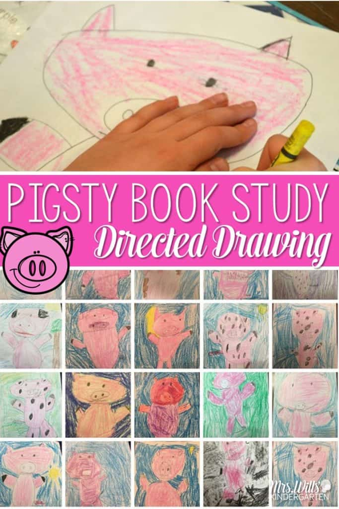 Pigsty by Mark Teague lesson activities includes reading comprehension and directed drawings. Perfect for Kindergarten and first grade.