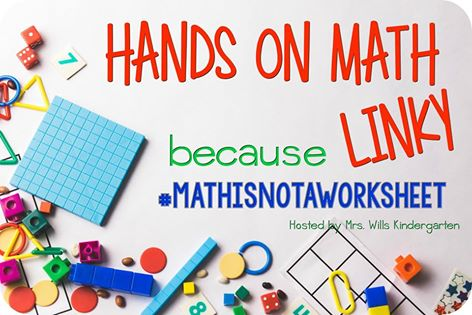 Math is not a worksheet! Here's a roundup of several great hands on math activities for all ages.