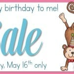 Birthday Giveaway, Freebie, and Sale