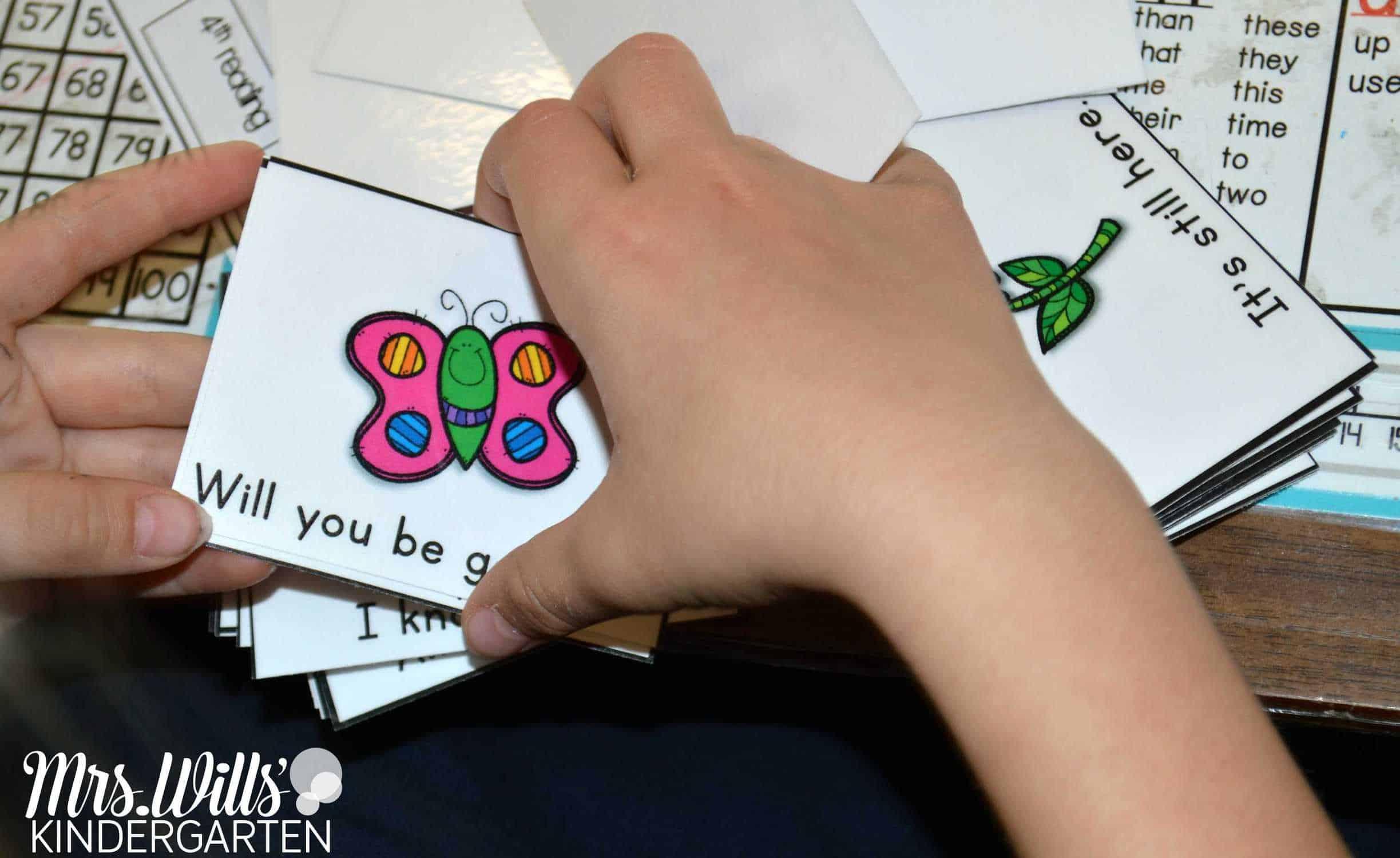 Fry word phrase fluency cards