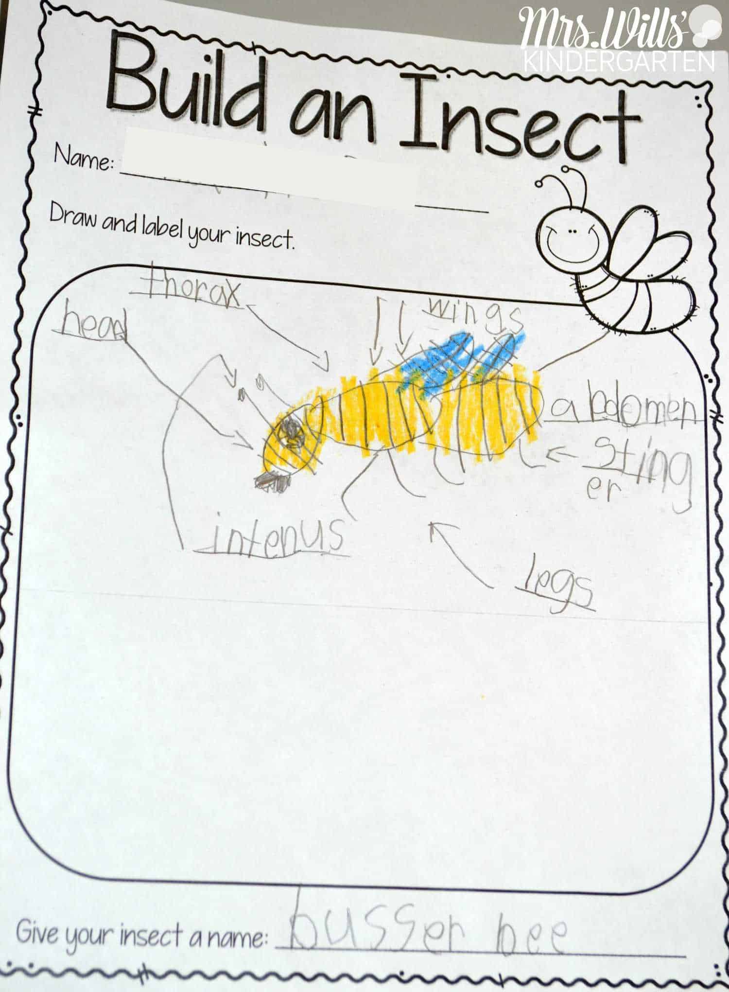 Insect Lesson Plans Kindergarten on Writing Journal Template And Topic Ideas For Kids