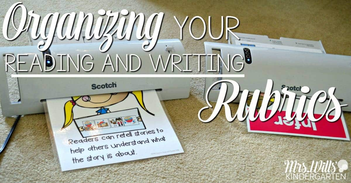 Organize your reading and writing rubrics for the whole year! Simple tips so your rubrics will always be at your fingertips and organized all year long.