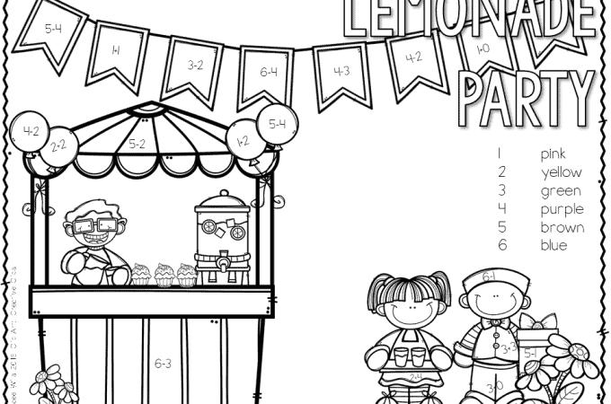 Lemonade Party Math Free File