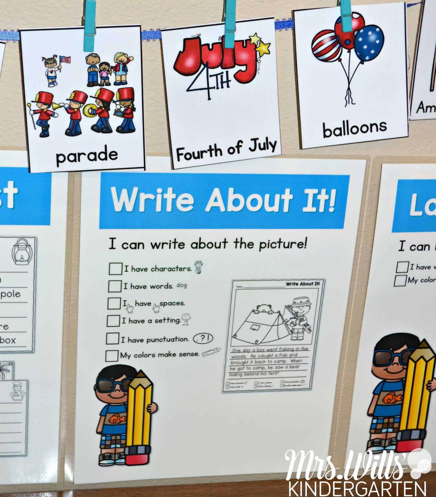 Writing Work Station July 2 - Mrs. Wills Kindergarten