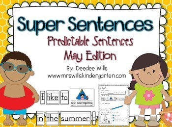 Camping, the Beach, and a Picnic are included in this unit! Predictable Sentences are a great way to support your emergent learners. This activity can be used as a station or center. It can also be used as a whole group interactive writing activity.