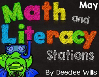 Beach, Ocean,Camping, and summer themes. Here are 8 math and 9 literacy stations that are perfect for May.