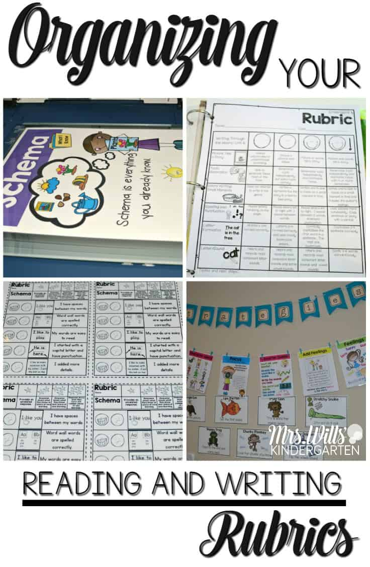 Tips for organizing your reading and writing rubrics for the whole year! Simple tips so your rubrics will be organized all year long. Align your rubrics with your anchor charts.