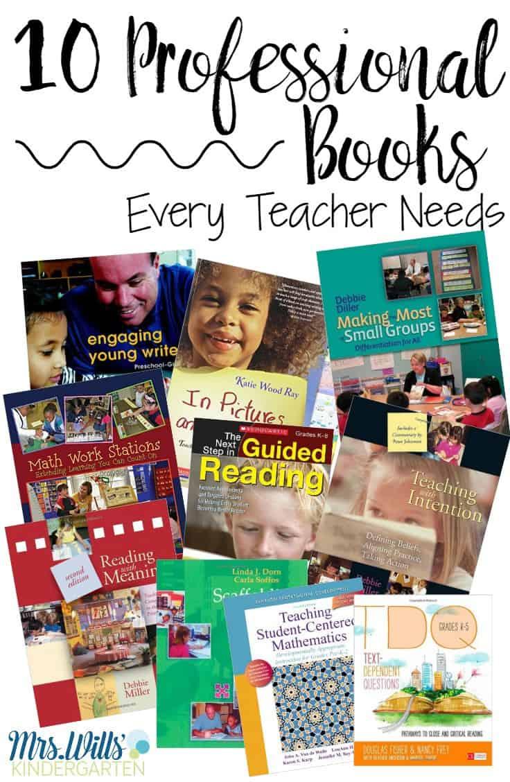 10 Teacher Professional Development books for kindergarten and primary teachers.Reading, writing, and math teacher professional development books included.