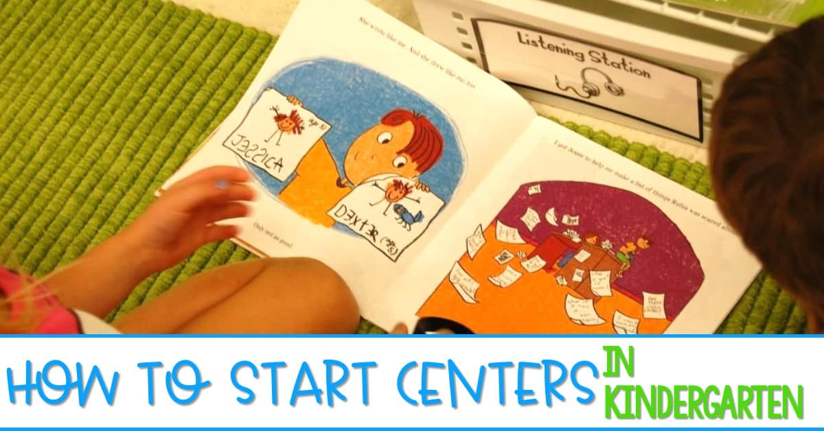 How to start centers in kindergarten. Starting kindergarten stations can be tough! So how do I start centers in kindergarten? Let me show you. Sanity savers and tips so you can love your back to school station time!