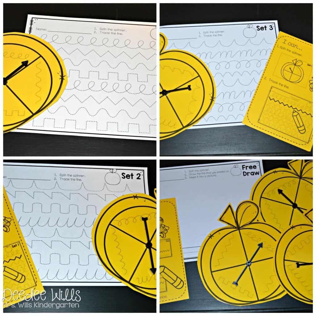Fine Motor center activities for kindergarten. Quick and easy printable practice.