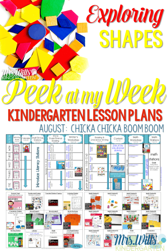 Exploring shapes in kindergarten is a great way to start the year off. I have gathered several ideas that are perfect for exploring 2D and 3D shapes.