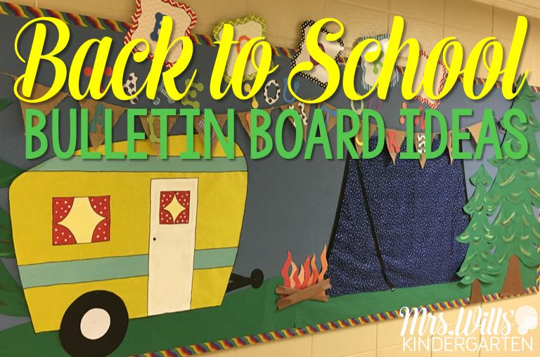 Back to School Bulletin Boards - Mrs. Wills Kindergarten