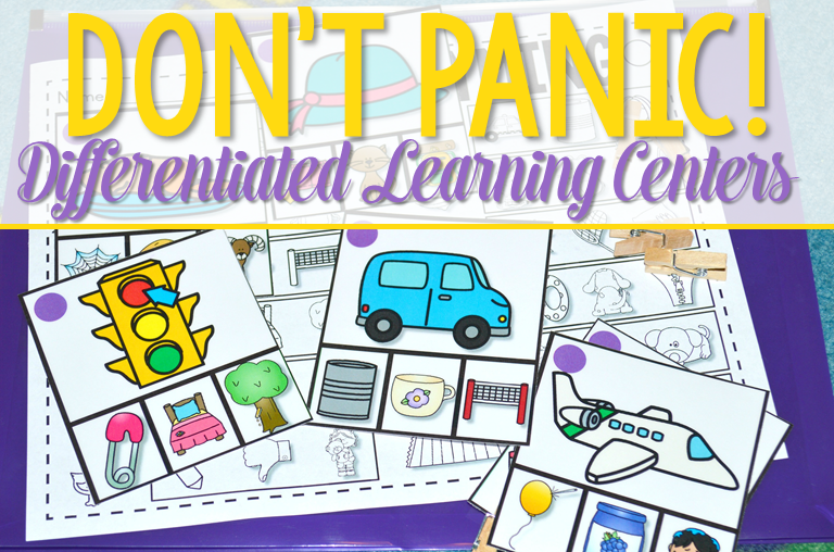 Differentiated Learning Centers Dont Panic Mrs Wills