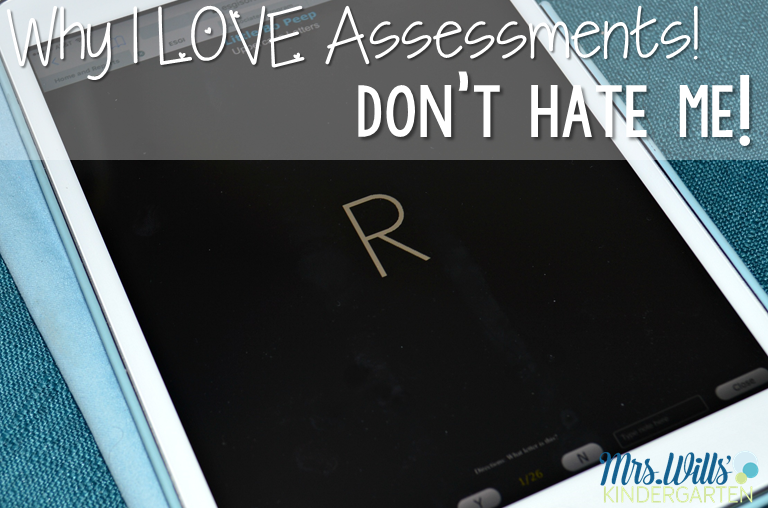 Why I LOVE kindergarten assessments. Assessments are meant to focus your instruction. See how I use assessments to focus my teaching WITHOUT losing instructional time.