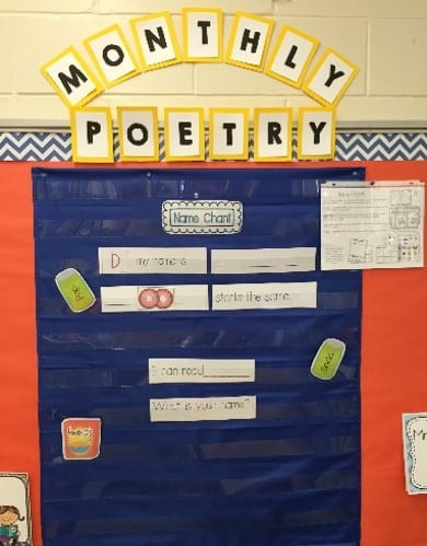 Kindergarten and first grade Poetry Units build fluency as students practice reading in a shared reading setting.