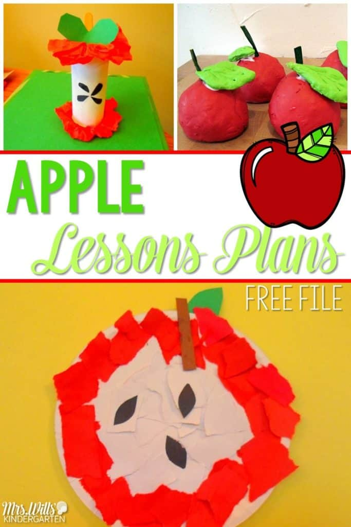Your lesson plans apple week are here! Math, literacy, and craft activities for your kindergarten classroom. Teachers can find ideas to create meaningful and engaging activities around the apple themed resources! Plus a free file!