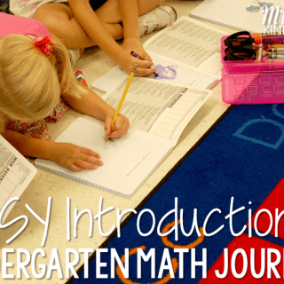 Starting Kindergarten Math Journals…  It's EASY!!!!