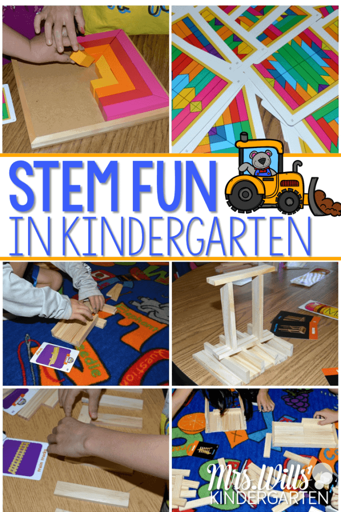 STEM fun in kindergarten is easy with these open-ended exploration activities. Students explore spatial relationships as they engineer their own designs.