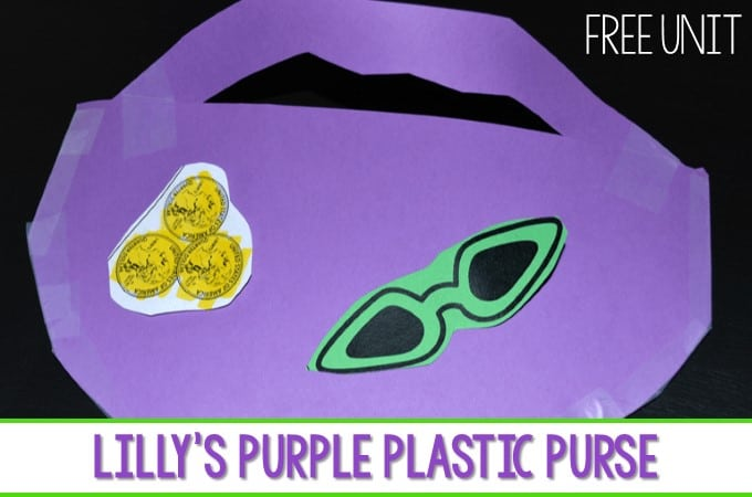 Lilly's Purple Plastic Purse lesson plans ideas for kindergarten and first grade. Students respond to the book during reading and interactive writing. Predicting, character analysis and more! Fun week of activities for your Kevin Henkes author study! Grab this free lesson plan!